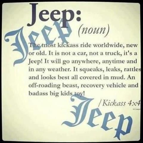 Definition of Jeep, spot on. My dream car ❤️
