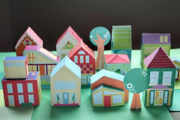 Бумажный город для детей. Бесплатные распечатки | Baby journal