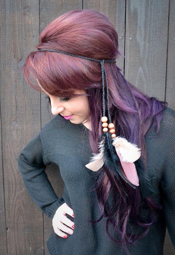 Archetto regolabile piuma Hippie Headband fascia di VividBloom