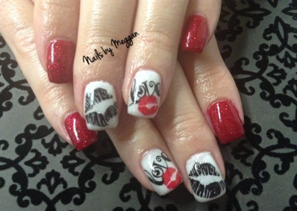 1000+ images about Valentines Day Nail Art on Pinterest | Nail art ...