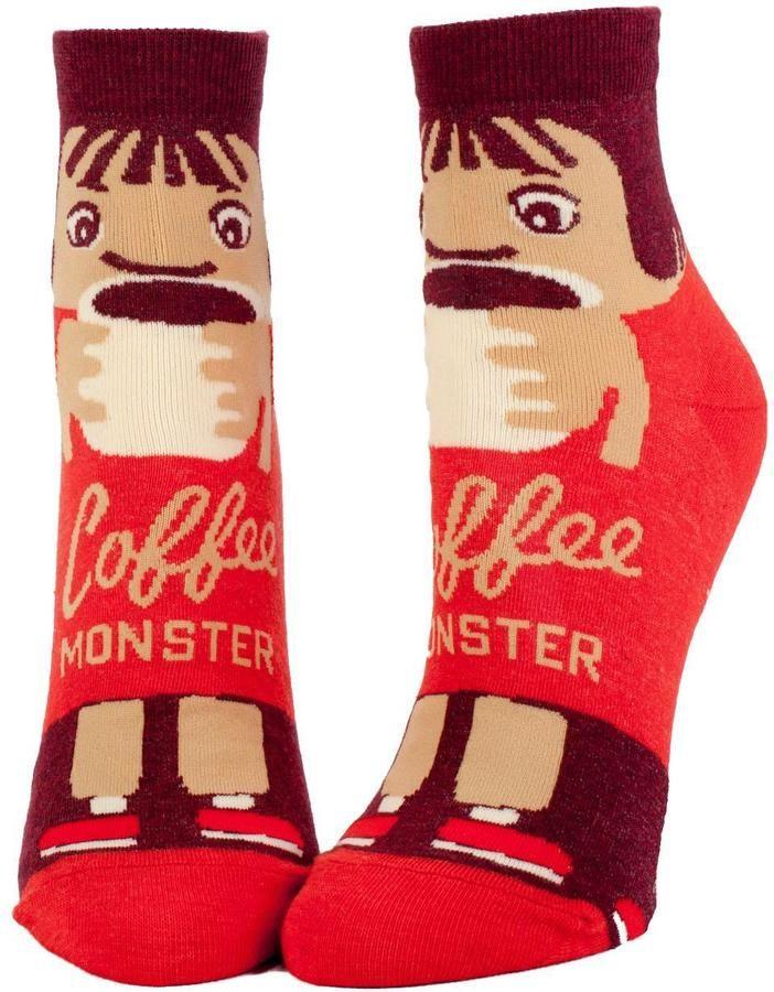 Blue Q Coffee Monster Socks