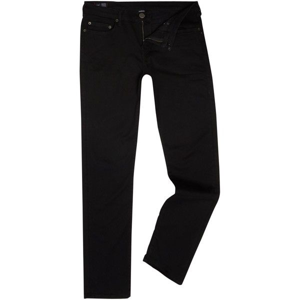 True Religion Geno Midnight Black Tapered Jeans ($205) ❤ liked on Polyvore featuring men's fashion, men's clothing, men's jeans, men jeans, mens slim fit tapered jeans, true religion mens jeans, mens tapered jeans, mens zipper jeans and mens jeans
