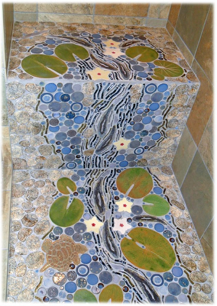 11 best images about custom tile on pinterest ceramics for Waterfall tile design
