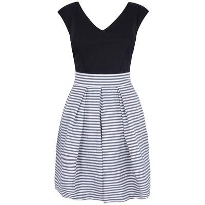 Almari Stripe Taffeta Contrast Dress