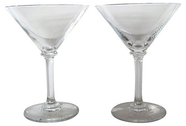 Baccarat Crystal Martini Glasses Pair On Onekingslane Com