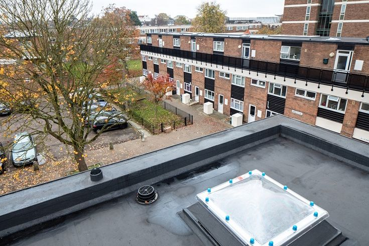 Kemper System's Stratex warm roof system has been used to upgrade the roofs of five social housing apartment blocks as part of an investment programme supporting a £20 million stock transfer from Gloucester City Council to housing association Gloucester City Homes.
