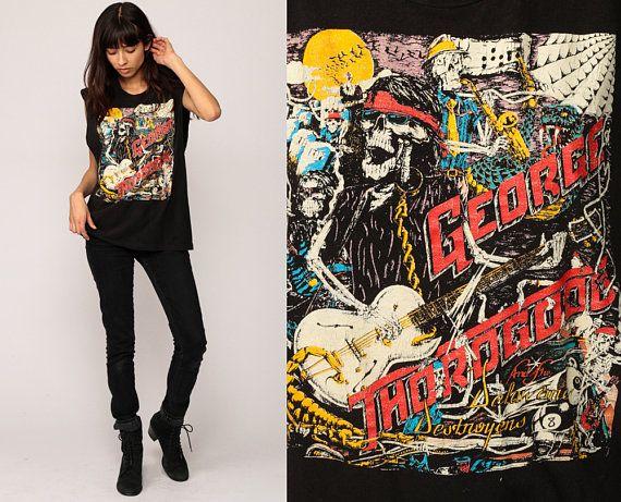 George Thorogood Shirt Vintage Band TShirt THE DESTROYERS 1989