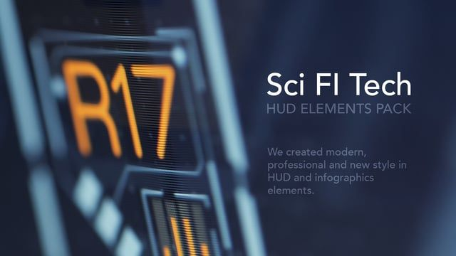 We created modern, professional and new style in HUD and infographics elements.  Download Project - https://goo.gl/inW7gm