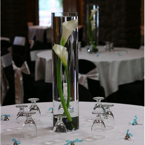 For People Who DIY'd Calla Lily Centerpieces... :  wedding calla lily flowers centerpiece 02calla Lily Centerpiece Led Light