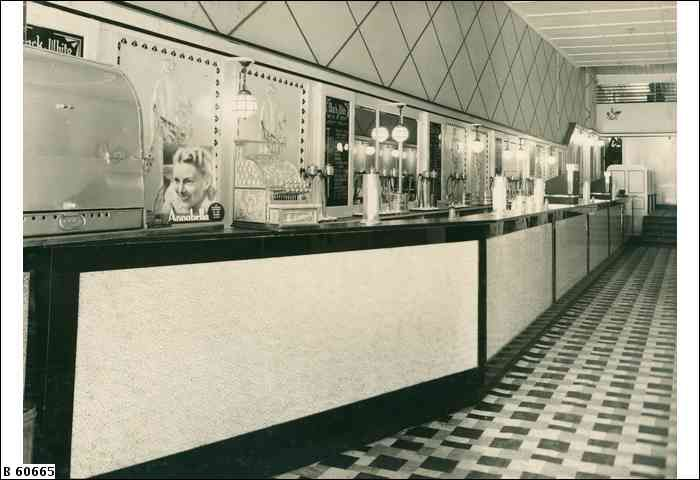 Interior view of the Black and White milk bar, 9A Rundle Street SA