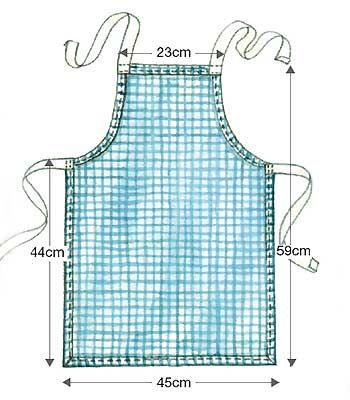 pattern for child's apron for free | Sew a child's apron :: allaboutyou.com