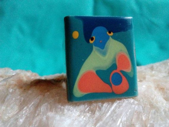Check out this item in my Etsy shop https://www.etsy.com/listing/473255330/square-ring-lady-blue