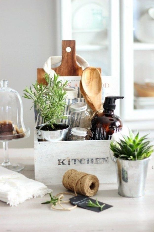 DIY Housewarming Gifts - Wooden Caddy - Best Do It Yourself Gift Ideas for Friends With A New House, Home or Apartment - Creative, Cheap and Quick Crafts and DIY Ideas for Housewarming Presents - Mason Jar Gifts, Baskets, Gifts for Women and Men http://diyjoy.com/diy-housewarming-gifts