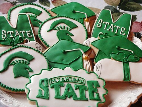 Michigan State Graduation Cookies