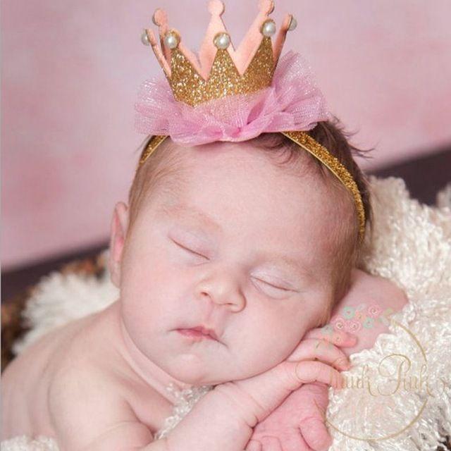 Новорожденный Короны Повязка Золото принцесса корона Детские Девушки Симпатичные Волос Группа Детские Дети Аксессуары Для Волос Детские Фото Реквизит 1 шт. HB044