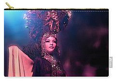 Carry-all Pouch featuring the digital art Cuban Singer 1 by Francesca Mackenney