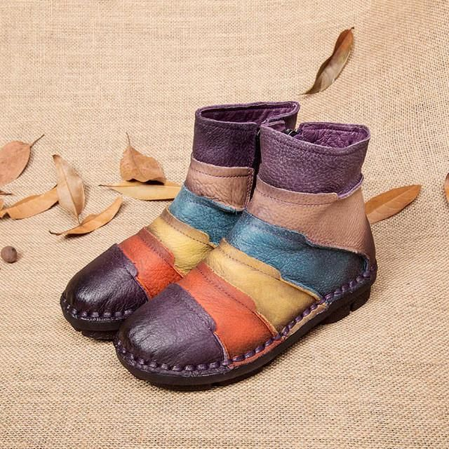 Multi Coloured Martin Boots