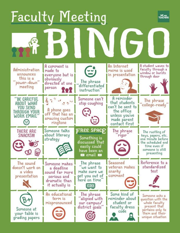 Teacher Bingo!!!