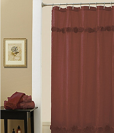croscill posies shower curtain for my