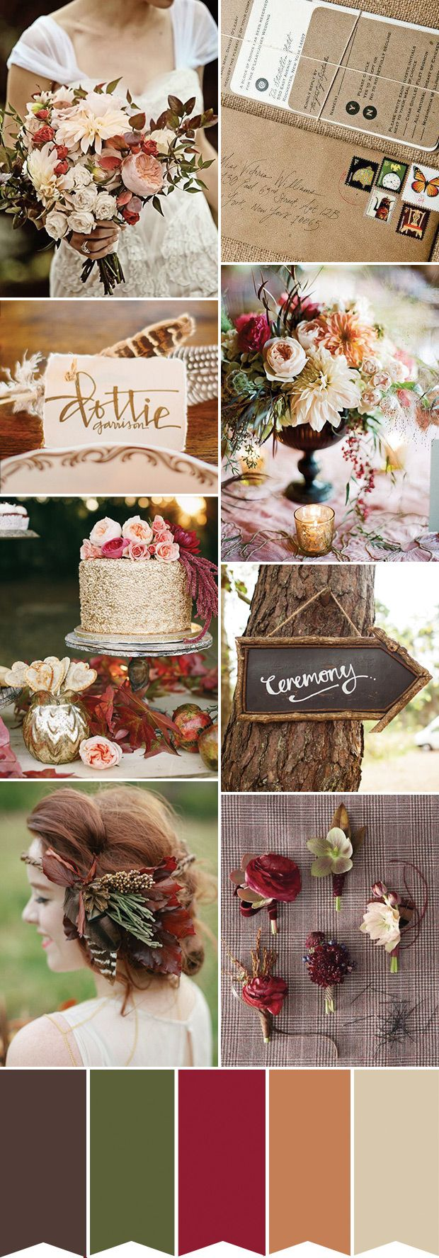 Rustic Chic Autumn and Fall Wedding Inspiration | see how to create this look over on www.onefabday.com