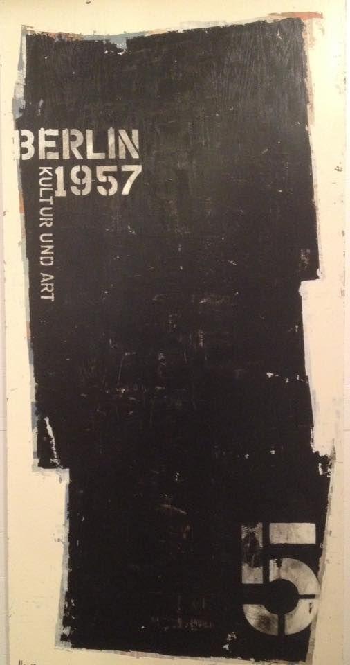 """BERLIN - 1957 2015 Acrylique sur bois 24"""" x 48"""" http://alecsurfaces.blogspot.ca/"""