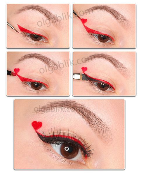 I'm going to do one eye like this for Valentine's Day.