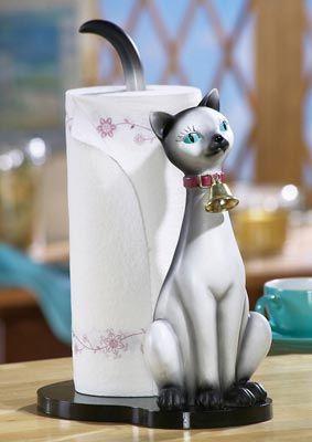 Серый Сиамская кошка Бумажные полотенца Держатель