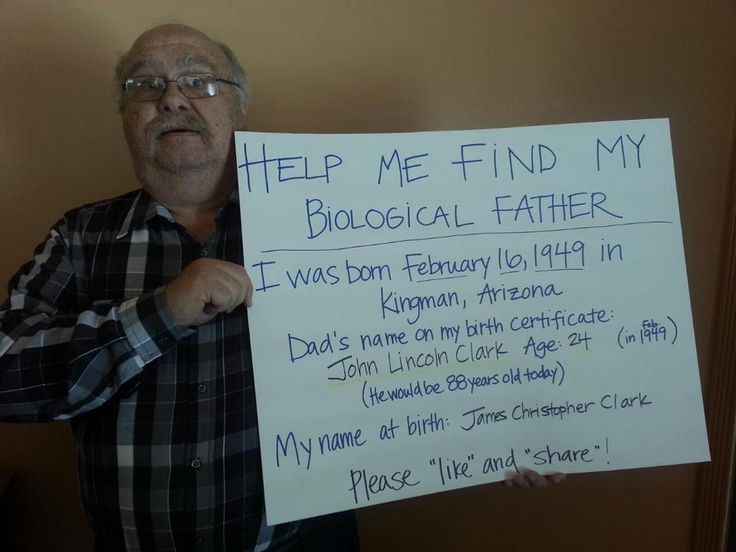 Help me find my biological Father! | Adoptee Photo | A Place For Adoption Reunions & Information