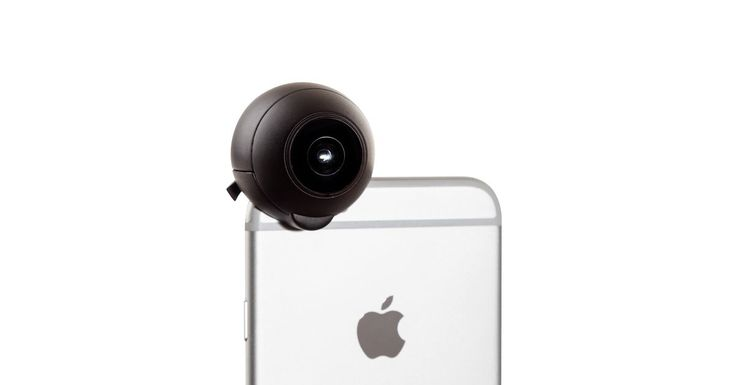 This 360-degree lens attaches to your iPhone camera