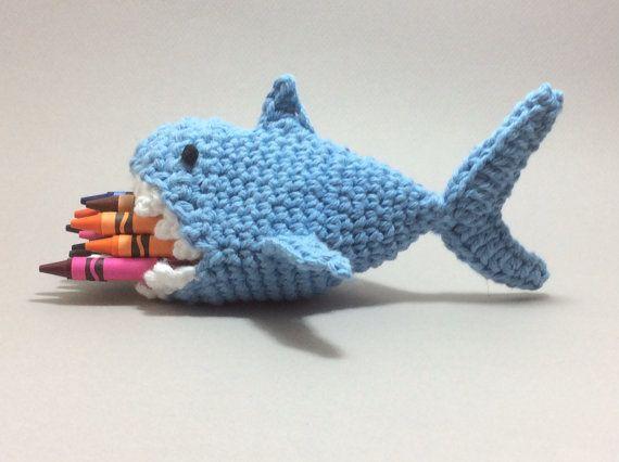 Whale Shark Amigurumi : Shark crayon case crochet whale handmade by ...