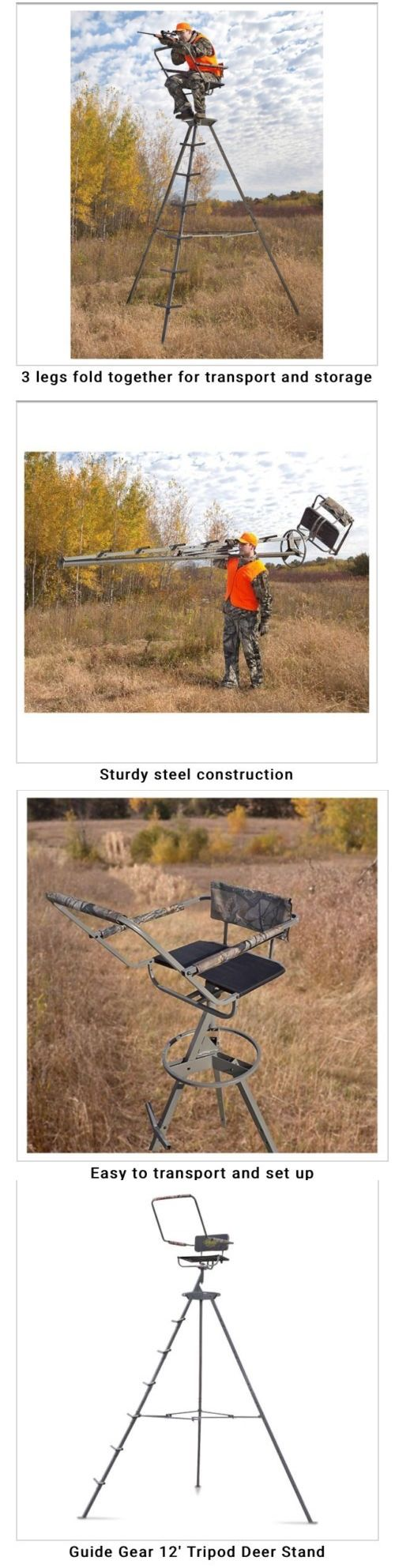 Tree Stands 52508: Guide Gear 12 Tripod Deer Stand Do Not Ship Out Side Us Are Alaska And Hawaii -> BUY IT NOW ONLY: $125.99 on eBay!