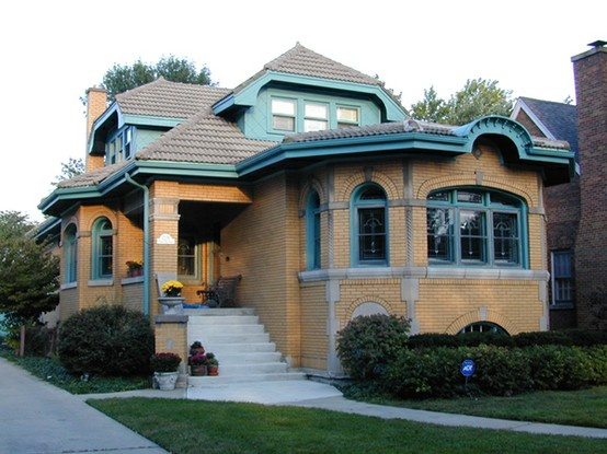Chicago style bungalow exterior home designs pinterest - What is a bungalow house ...