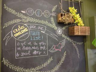 Chalk art to promote Dandelion's online fun stuff!