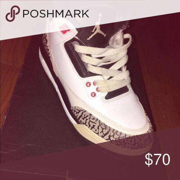 Jordan 3 infrared Jordan 3 great condition authentic Jordan Shoes Sneakers