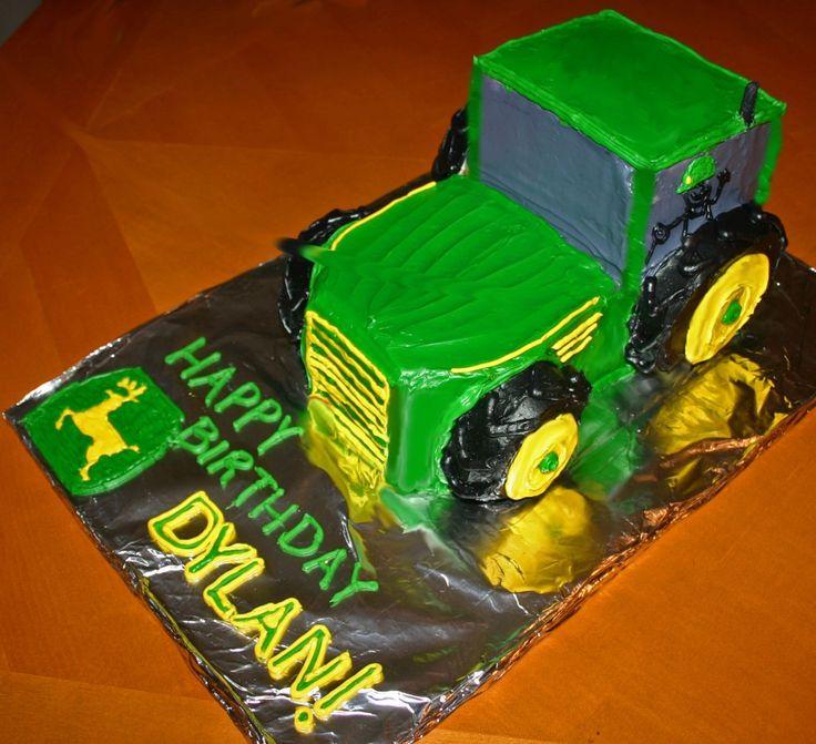 John Deere Tractor Birthday Cake and Cupcake Ideas