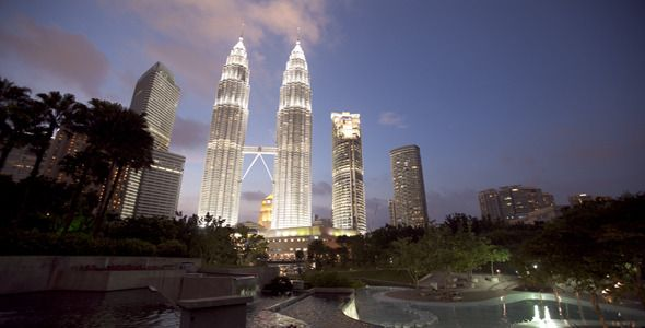 Kuala Lumpur Towers Day To Night Timelapse