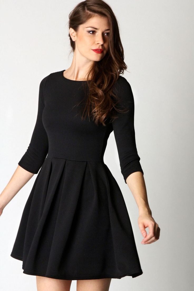 25  best ideas about Black dress long sleeve on Pinterest | Black ...