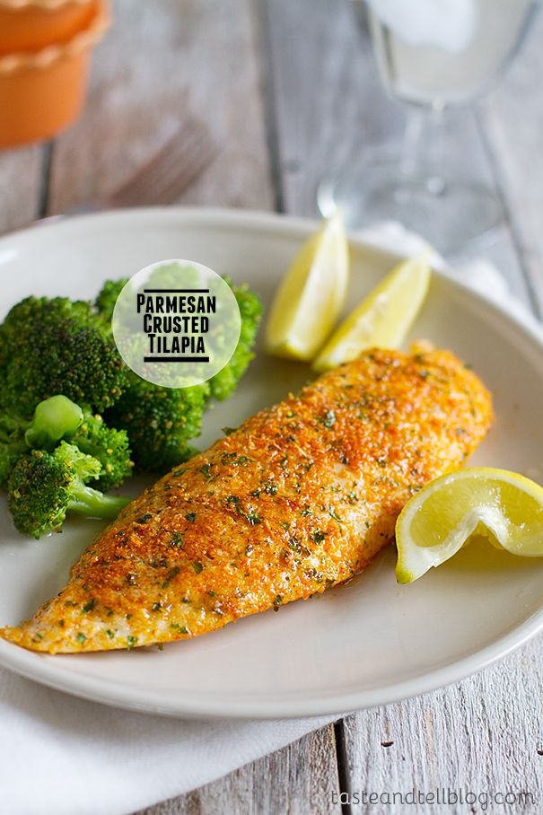Parmesan Crusted Tilapia {Fridays with Rachael Ray} - Taste and Tell