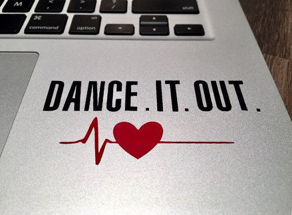 Dance It Out Grey's Anatomy Inspired Vinyl Decal, Laptop, Macbook, Iphone, Phone, Tablet, Tumbler, Rtic, Yeti, Car