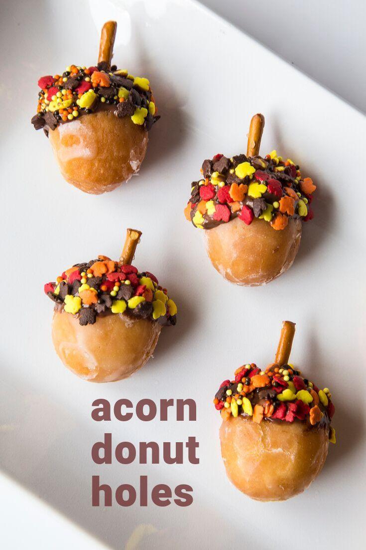 Acorn Donut Holes Fall Recipe