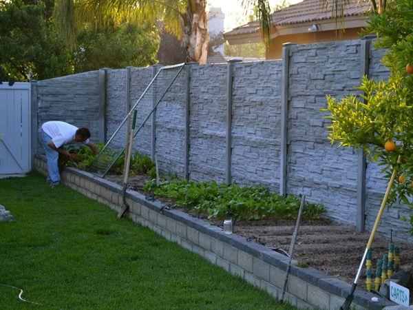 25 best ideas about concrete fence on pinterest contemporary fencing artificial grass b q - Precast concrete fences ...