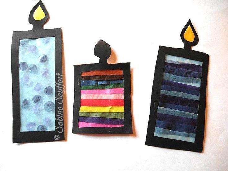 Kerzen fürs Fenster mit Transparentpapier