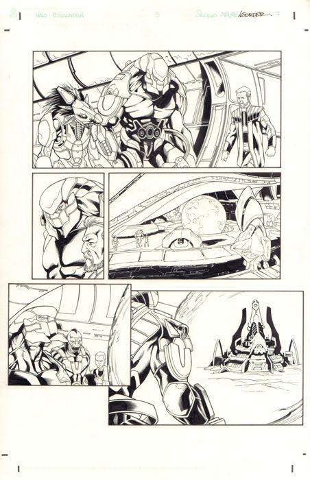 Juan Castro - Original Art Page - HALO : Escalation #3 - Page 7 - Dark Horse / Microsoft - (2015) - W.B.