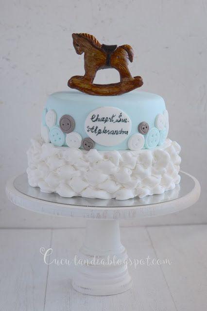 Christening cake Cuculandia: Z DRZEWA KOŃ NA BIEGUNACH