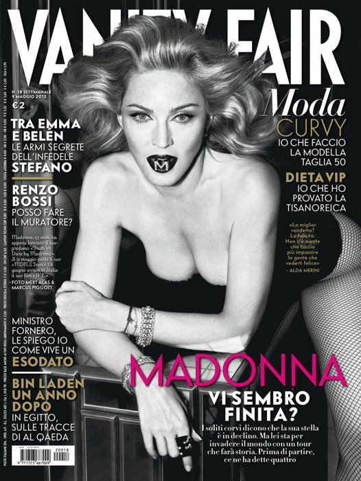 oMg, it's Madge on the cover of Vanity Fair Italy!
