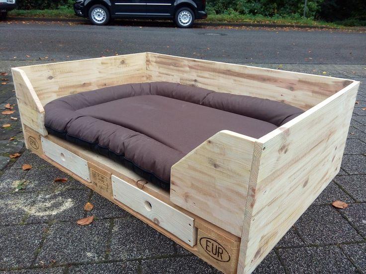 xxl hundebett aus europalette von dirks und das auf sch ne sachen f r den hund. Black Bedroom Furniture Sets. Home Design Ideas