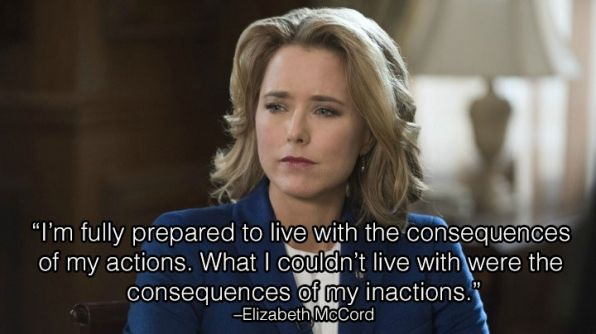 Though Secretary McCord is a fictional Secretary of State, this is a great quote! #WomenAndPolitics