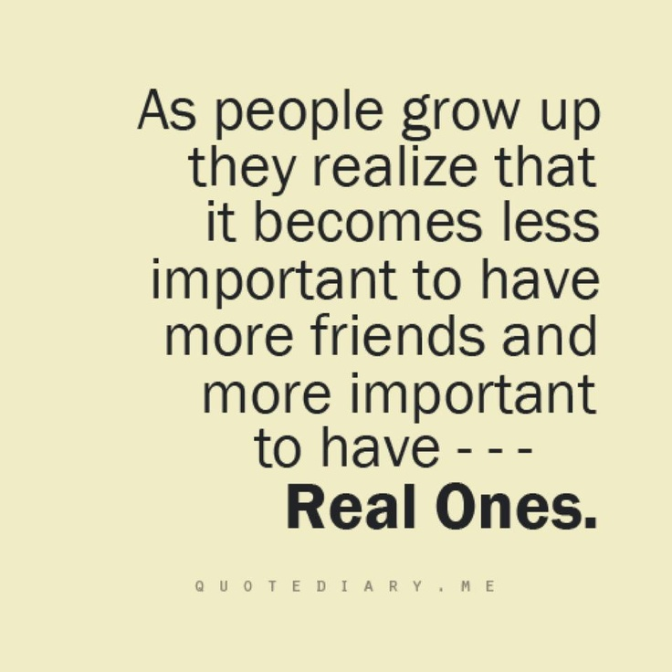 Motivational Wallpaper On Friendship: As People Grow Up They Realize