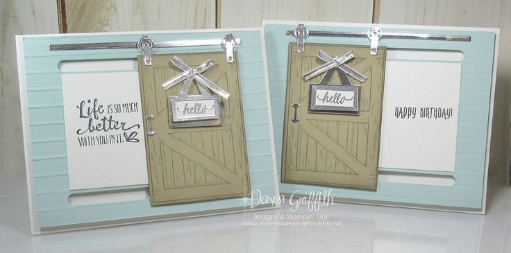 Hi Stampers, Happy Friday friends ! Today we will be making this adorable Barn door card . This was the 2nd project we made at my local club night this past Saturday night. We used the Barn Door bundle (w)#145989 (c)# 145990 Whisper White card stock # 100730 cut at 5 1/2″x 8 1/2″scored at …