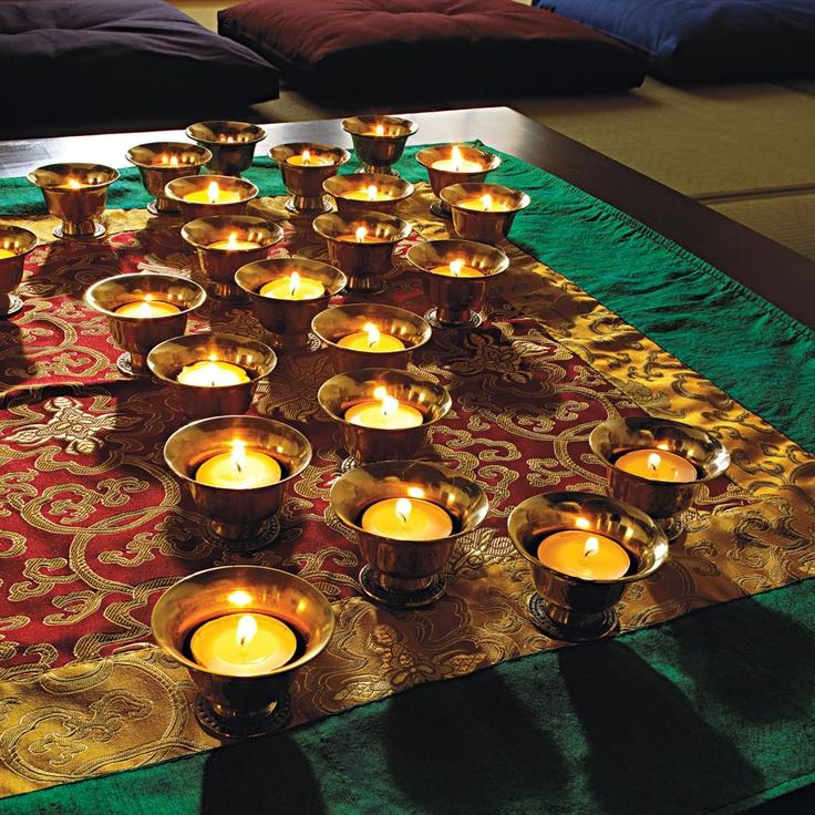 Buddhist Wedding Ideas - offering bowls, altar cloths, meditation cushions, more. #dharmacrafts